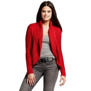 NWT Mossimo Women's Cable Open Cardigan